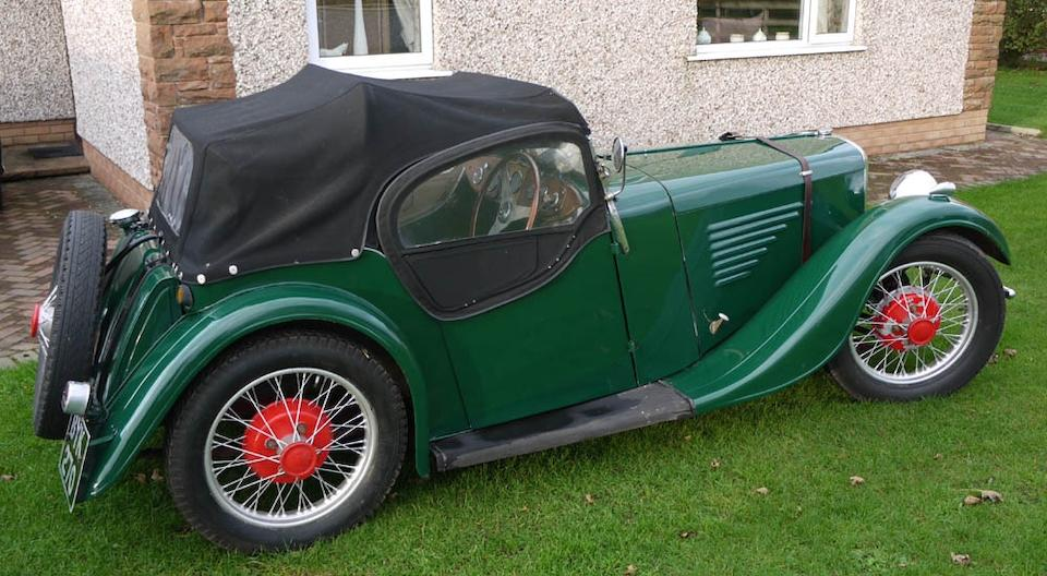 1934 BSA 8.9hp Scout Roadster  Chassis no. L422 Engine no. 432