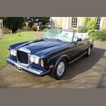 1989 Bentley Continental Convertible  Chassis no. SCBZD02A5KCX29150 Engine no. 67105L410I/8