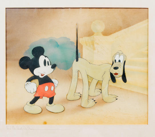 Walt Disney: An original celluloid from 'Society Dog Show', 1939,