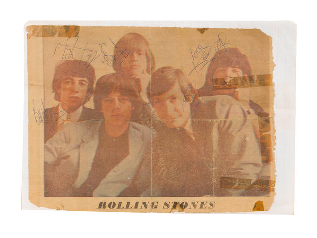 A set of Rolling Stones autographs, circa 1964/65,