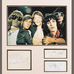 A set of autographs of the Rolling Stones, 1960s,