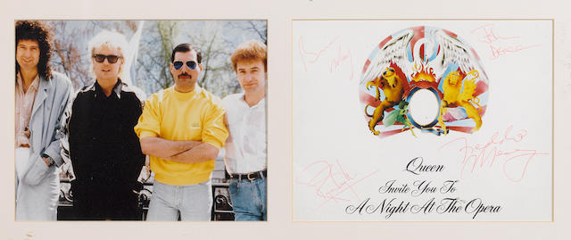 A set of Queen autographs,