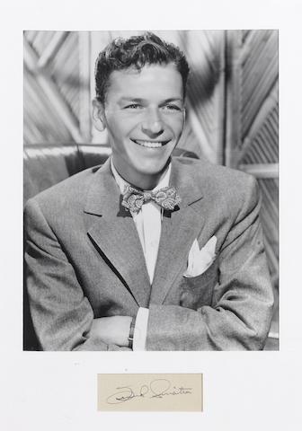 A Frank Sinatra autograph,  1940s,