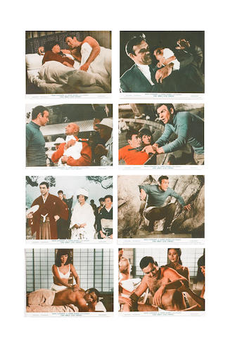 Sean Connery as James Bond: Two complete sets of eight front of house stills for You Only Live Twice, 1967 and Diamonds Are Forever, 1971, 2 sets