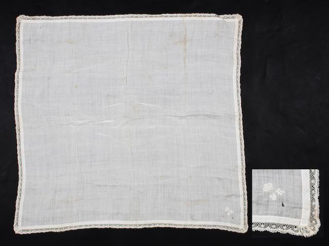Queen Victoria's fine ivory silk handkerchief