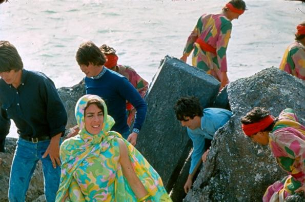 Colour photographs of the Beatles filming 'Help!' in the Bahamas, February/March 1965,