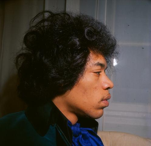 An unpublished photograph of Jimi Hendrix