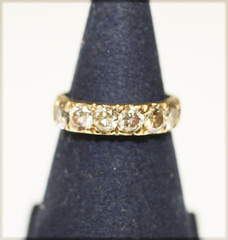 7 Stone diamond set band