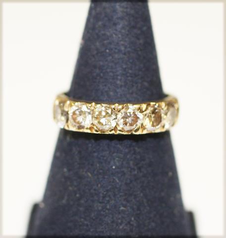 7 Stone diamond set band