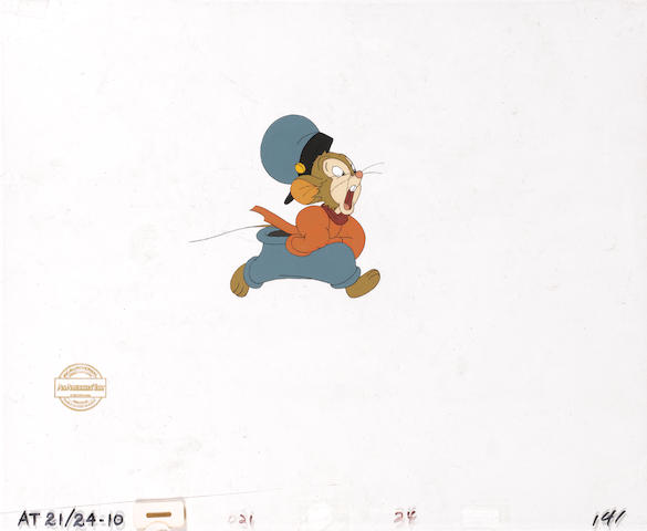 An American Tail, 1986 An animation celluloid together with a large background,