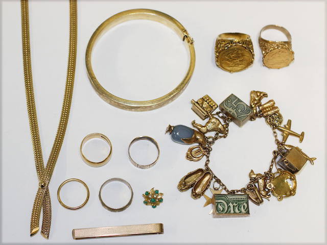 Mixed gold items (10)