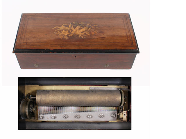 An eight air cylinder musical box by Paillard, circa 1880,