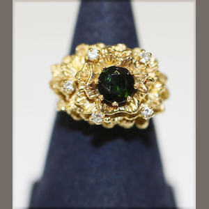 A tourmaline and diamond ring - Oxford