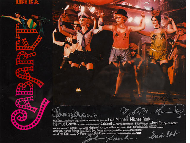 An autographed 'Cabaret' lobby card set, ABC Pictures, 1971,