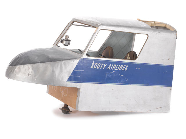 The Sooty Show, believed to be circa 1960's, A large aeroplane cockpit prop, labelled 'Sooty Airlines',