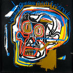 After Jean-Michel Basquiat Head Screenprint in colours, 1983-2001, on Saunders 410 Hot Press watercolour paper, with the Gerard Basquiat signature in pencil and artist's estate stamps verso, numbered 32/85, published by DeSanctis Carr Fine Art, New York, the full sheet, 1017 x 1016mm (40 x 40in) (SH)