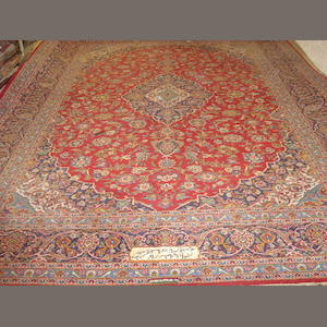 A Kashan carpet, Central Persia, 415cm x 315cm