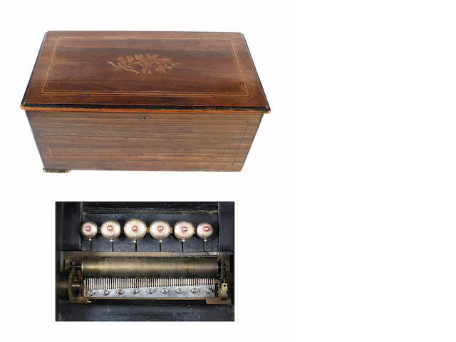 A twelve air cylinder musical box by Junot, circa 1883,