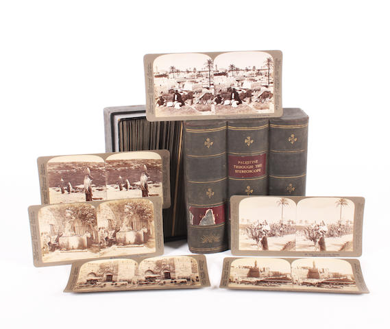 A boxed set of stereo views of Palestine
