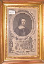 After Sir Godfrey Kneller 'Ann Bullen Queen of K Henry VIII' 36cm x 22cm