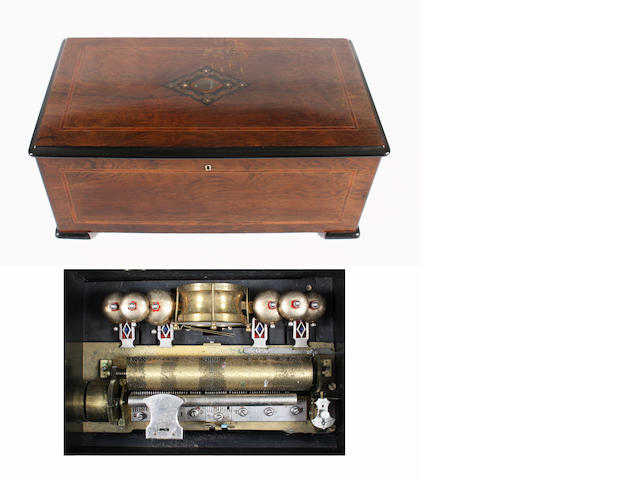 An eight air cylinder musical box by Nicole Freres, circa 1890,