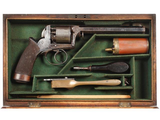 A Cased 54 Bore Deane Adams Five-Shot Percussion  Revolver