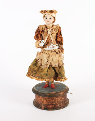 Automaton doll of a serving maid,