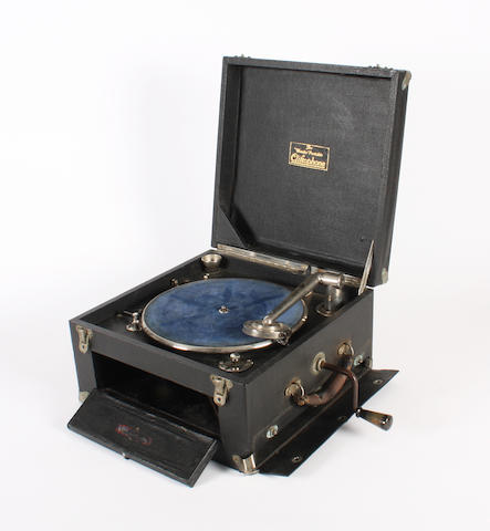 A Cliftophone 'Wonder' portable gramophone,