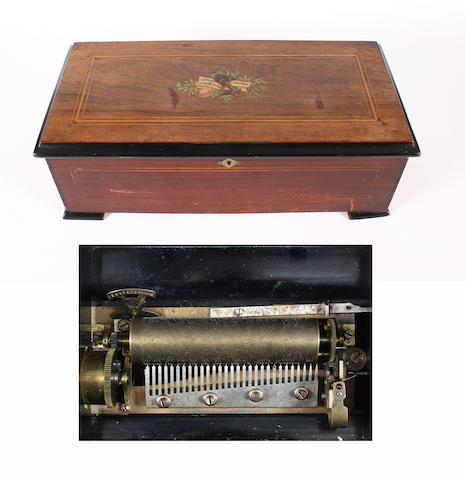 A twelve air cylinder musical box by Cuendet, circa 1896,