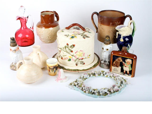 A mixed group of pottery and porcelain 19th century and later