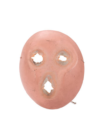Pink Floyd: an original mask from the film 'The Wall', 1982,