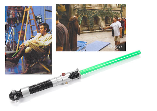 Star Wars: The Phantom Menace, 1999, Obi-Wan Kenobi's fighting lightsaber,