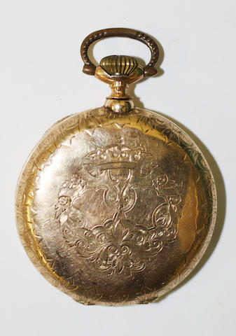 Kenzy: A 14ct gold hunter pocket watch