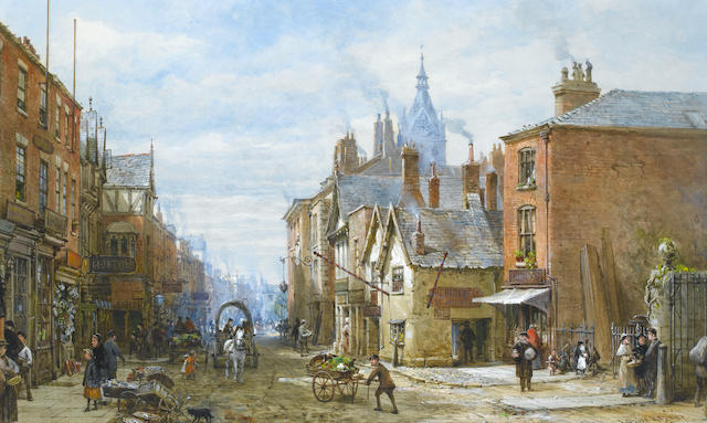Louise J. Rayner (British, 1832-1924) Northgate Street, Chester