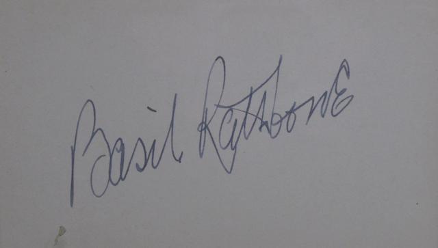 Sherlock Holmes: Basil Rathbone and Nigel Bruce autographs,