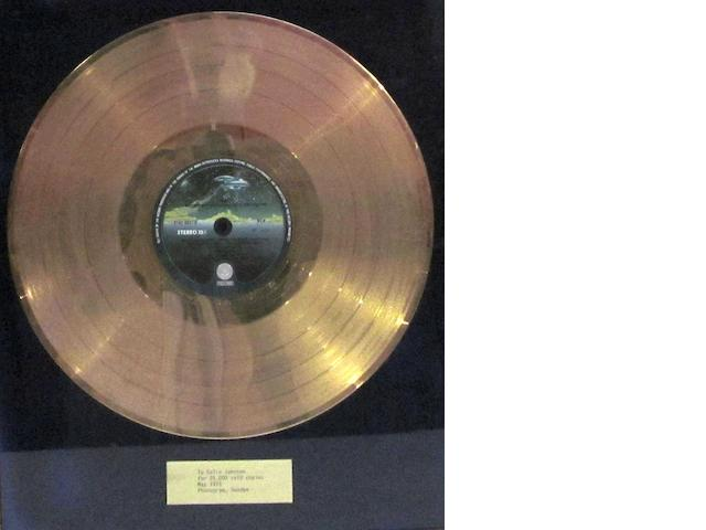 Status Quo: a Swedish 'Gold' sales award for the album 'Quo', May 1975,