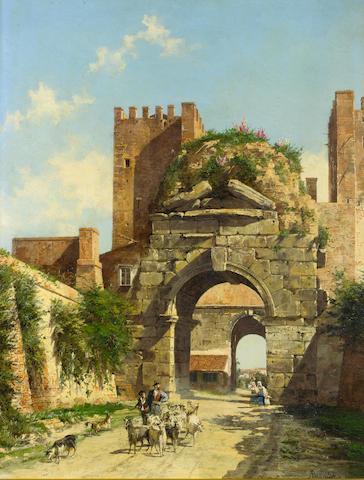 Antonietta Brandeis (Czechoslovakian, 1849-1910) L'Arco di Druso, Rome