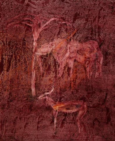 Sidney Nolan (Australian, 1917-1992) Elephant and Eland, 1963