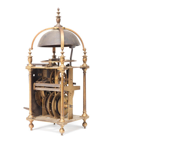 A 17th century lantern clock movement
