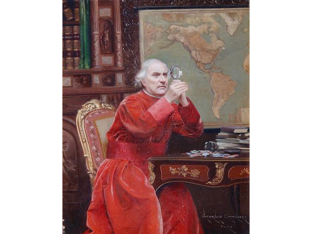 Georges Croegaert (Belgian, 1848-1923) The philatelist