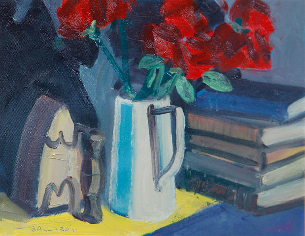 Brian Ballard (Irish, born 1943) Flowers and Books