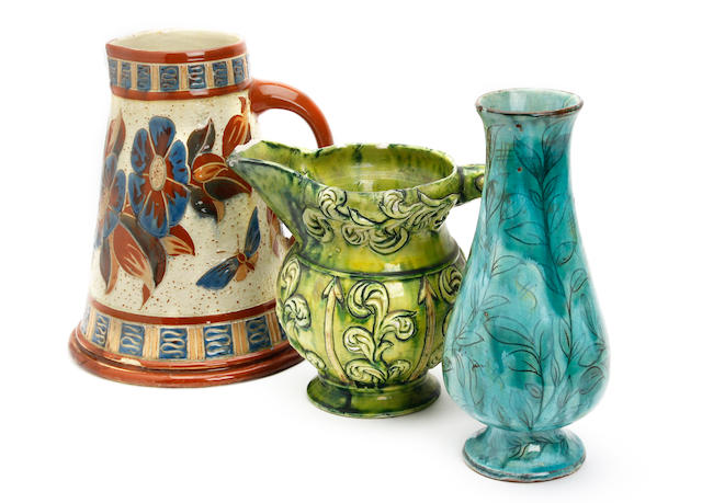 Three pieces of art pottery Circa 1900