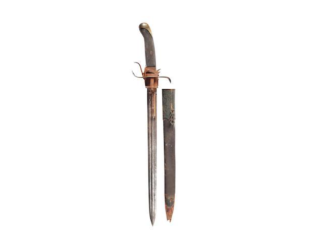 An Unusual Combination Six-Shot Pin-Fire Sword Pistol