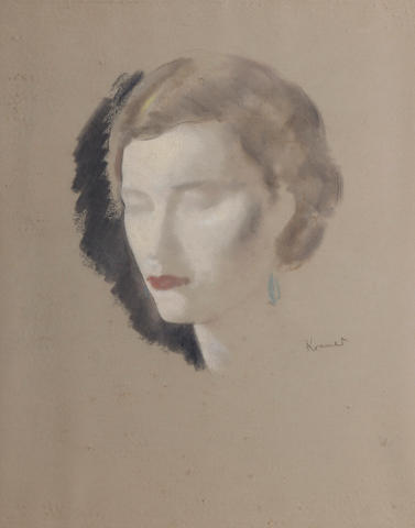 Jacob Kramer (British, 1892-1962) Portrait of Gladys Stone
