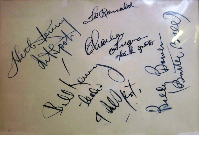 Autographs of the Ink Spots, late 40s/early 50s,