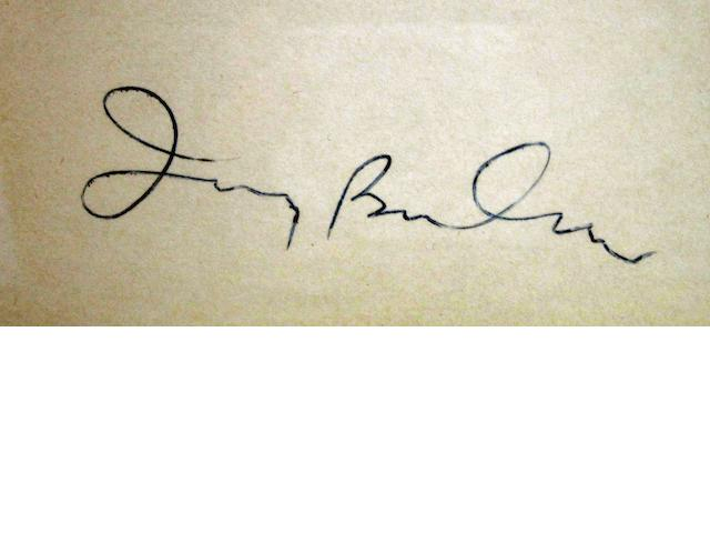 An Irving Berlin autograph,