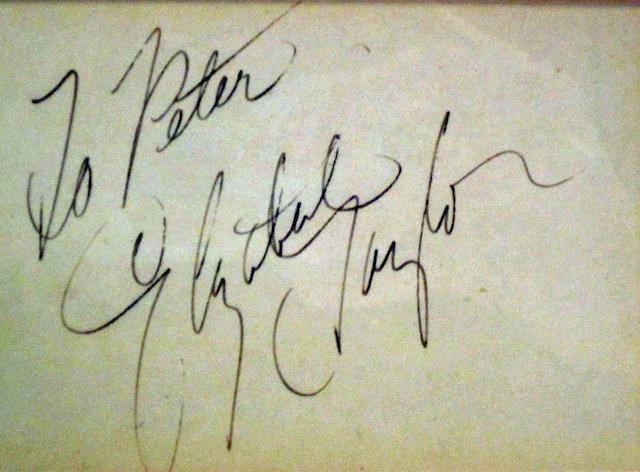 An Elizabeth Taylor autograph,