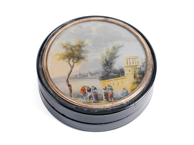 A Tortoise shell Snuffbox, by repute belonging to Lord Nelson