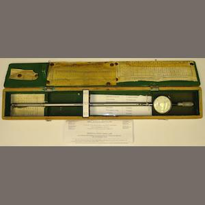 An Egerton-Chubb multi-gauge bore micrometer In its box, together with several notes regarding proof diameters and choke measurements