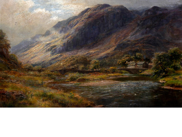 William Lakin Turner (British, 1867-1936) 'Grange in Borrowdale'